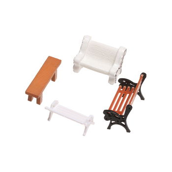 1 Pair Park Chair Figurines Doll House Miniature Bench Micro Landscape Succulent Bonsai DIY Craft Home Decoration Accessories