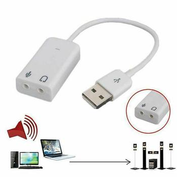 USB Sound Card Virtual 7.1 3D External USB Audio Adapter Notebook Competer Card Micphone Sound Earphone For Laptop M1I7 image