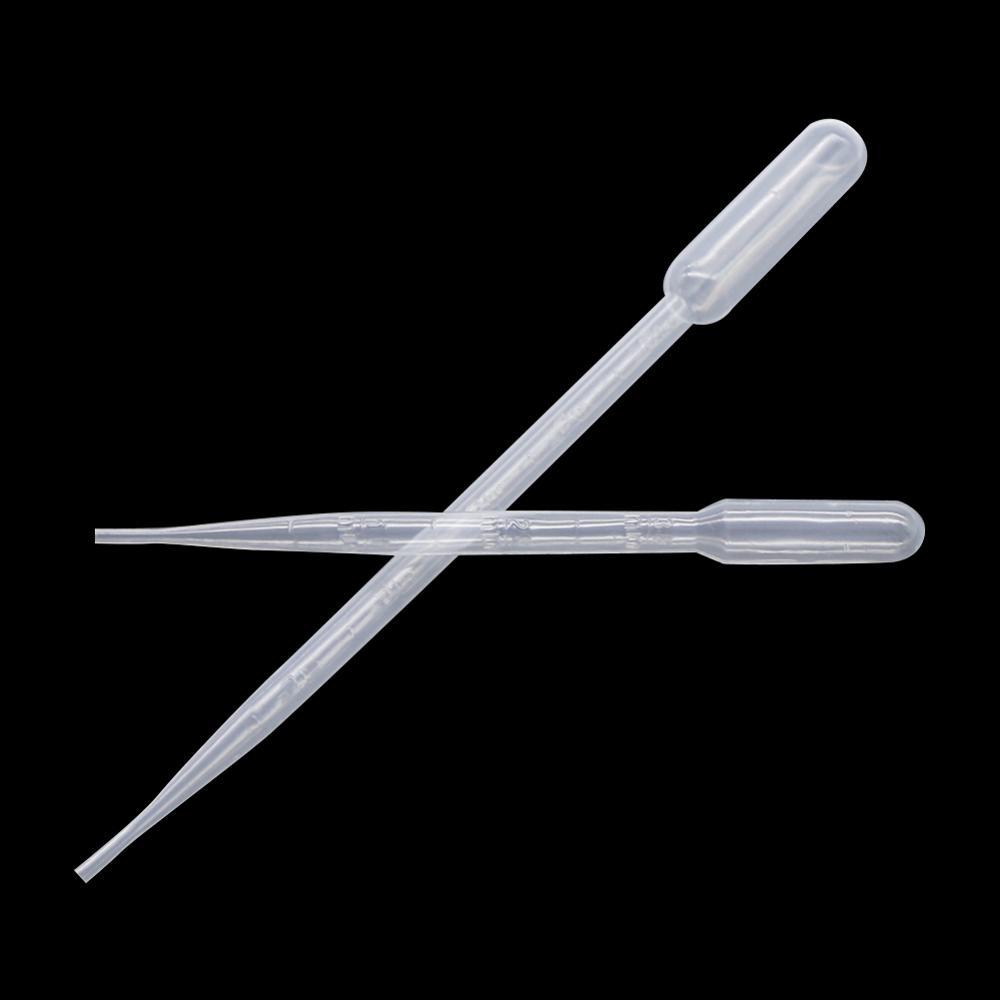 100Pcs 0.2/0.5/1/2/3/5/10ML Laboratory Pipette Plastic Disposable Graduated Pasteur Pipette Dropper Polyethylene Makeup Tools