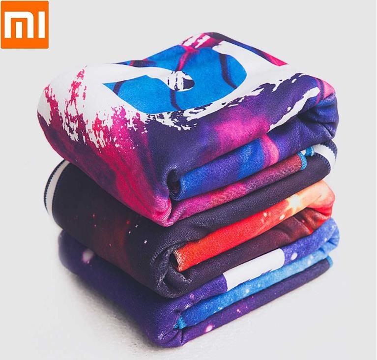 Xiaomi Men Woman Fitness Colorful Bath Towel Fashion Soft Skin Beach Swimming Towel Sports Running Yoga Gym Sweat Bath Towel
