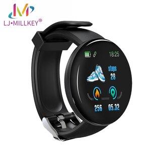 Смарт-часы D18, фитнес-часы, пульсометр, измерение уровня кислорода в крови, для IOS, Android, телефонов
