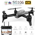 SG106 WIFI RC Drone Optische Stroom 4K 1080P HD Dual Camera Real Time Antenne Video RC Quadcopter Vliegtuigen positionering RTF Speelgoed Kid