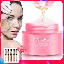 EFERO отбеливающая Сыворотка для лица, увлажняющий крем от веснушек, крем для удаления мелазмы, прыщей, пятен меланина, отбеливающий крем для лица, уход за кожей
