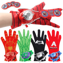 Hot Marvel Avengers Super Heroes Glove Laucher Props Spiderman Batman Hulk Iron man Cosplay Cool Gift Launcher For Kid