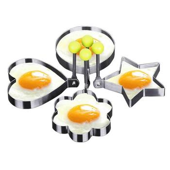 Stainless Steel Fried Egg Pancake Shaper Omelette Mold Mould Frying Egg Cooking Decoration Tools Kitchen Accessories Gadget Ring image