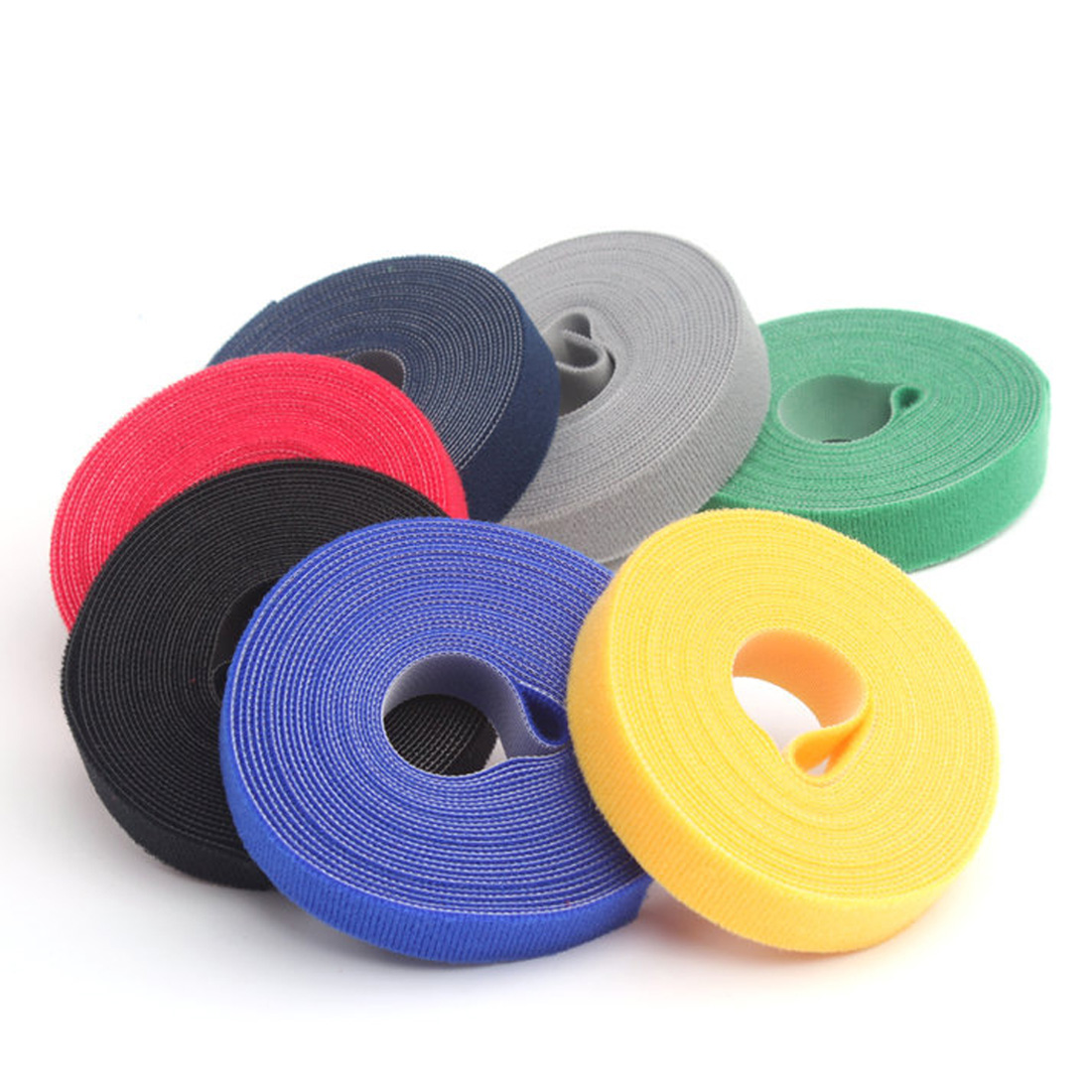 1//3//5m Hook/&Loop Tape Strap Cable Ties Fastener Self Adhesive Roll Wrap Durable