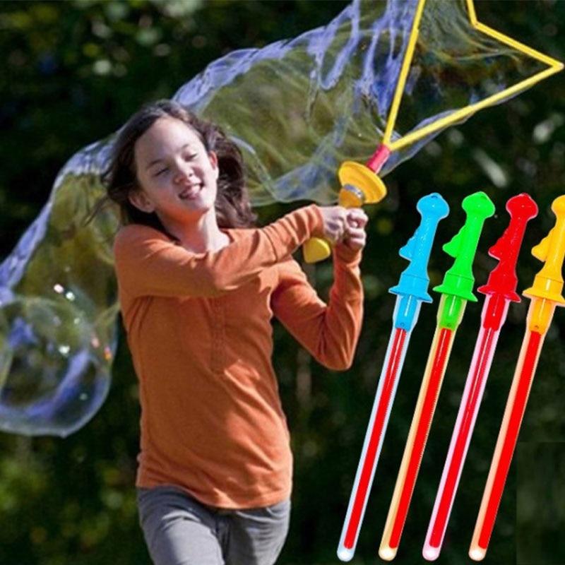 Tamanho grande 46 centímetros Brinquedos Ao Ar Livre Longo Bolha Máquina de Bolha Arma Bar Varas Sem Água Ocidental Forma Espada Para As Crianças Sabão brinquedo da bolha