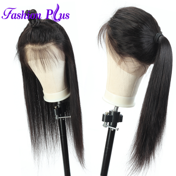 Lace Front Human Hair Wigs Brazilian Straight 150% Density 360 Lace Frontal Wig Pre Plucked With Baby Hair Remy For Women