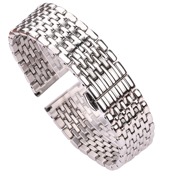 Watch Bracelet 16mm 18mm 20mm 22mm Silver Stainless Steel Watchbands Women Men Solid Wrist Watch Strap Accessories high quality silver 18mm 20mm stainless steel watchbands strap bracelet for men women watches replacement with spring bars