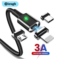 Elough Magnetische Kabel Quick Charge Micro USB Typ C Kabel für iPhone X Huawei QC 3,0 Magnet Schnelle Lade Ladegerät daten Draht Kabel