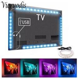 5V LED Strip Light TV Backlight USB 2835 SMD HDTV 1M 2M 3M 5M Tape Lamp Diode Flexible PC Desk Screen RGB Home Decorative Light
