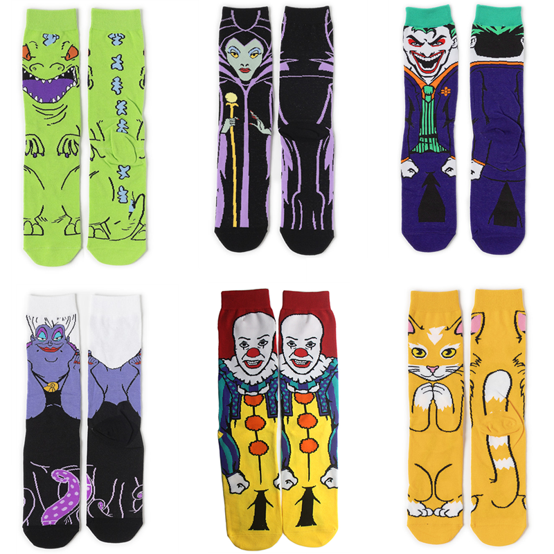 Patchfan Cartoon Funny 90s Anime Printed Women Men Socks Ankle Socks Kawaii Party Favor Cosplay Gifts Decoration A19