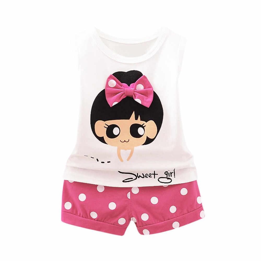 Pasgeboren 2019 Baby Baby Jongens Meisjes Leuke Cartoon Brief Pocket T-Shirt Mouwloos Tops Gestreepte Broek 2 Stuks Set Outfits