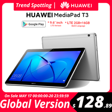 В наличии глобальная версия Huawei MediaPad T3 10 планшет LTE 2 Гб оперативной памяти, 16 Гб встроенной памяти, 9,6 дюймов устройство, док-станция Qualcomm MSM8917...