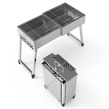 Foldable portable large stainless steel hibachi bbq exquisite backyard barbecue stove machine grill Hiking Charcoal Grill for Camping
