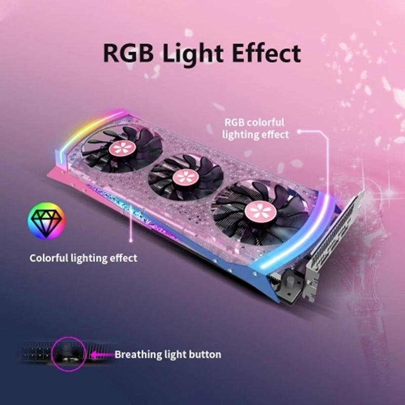 Yeston RX5700XT 8G D6 Image Card Boost 2010MHz/14GHz 8GB 256Bit GDDR6 Gaming Image Card With 3 Fans