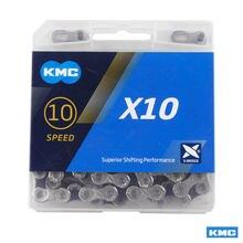 Kmc x10 mtb bicicleta de estrada corrente 116l 10 velocidade corrente botão mágico montanha com caixa original
