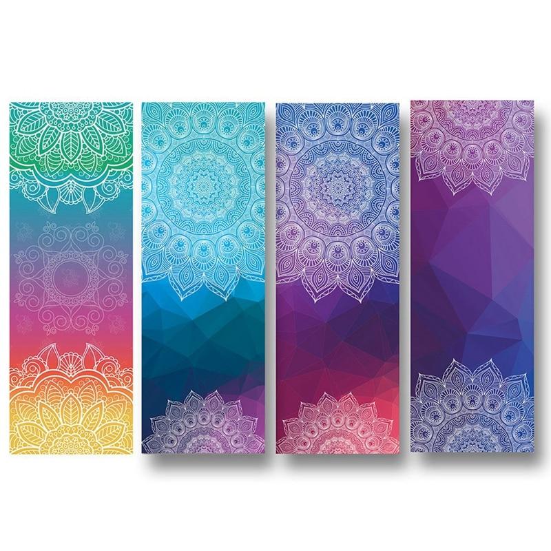 2x grosso antiderrapante yoga toalhas, antiderrapante absorvente