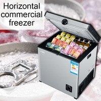 Comercial grande capacidade freezer horizontal refrigerado armário de armazenamento doméstico única temperatura geladeira freezer