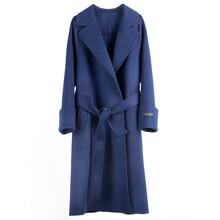 The New 2019 Wang Gull Is Same Wool Coat Medium and Long Cashmere Autumn Casual Adjustable Waist