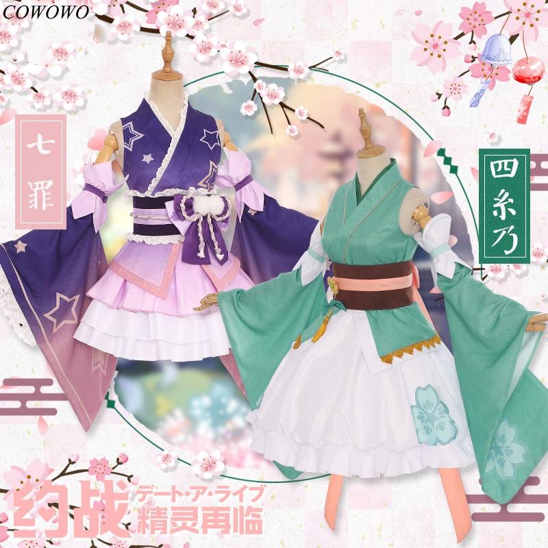 Anime! Date A Live Himekawa Yoshino Natsumi Lovely Kimono Uniform Cosplay Costume For Women Halloween Suit NEW Free Shipping