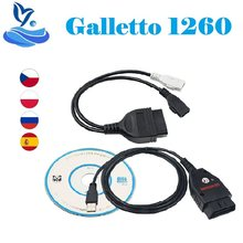 Galleto 1260 eobd/obd2/obdii ecu flasher 1260 ecu chip tuning com chip ftdi galletto 1260 diagnsotic interface 1260 ferramenta de ajuste