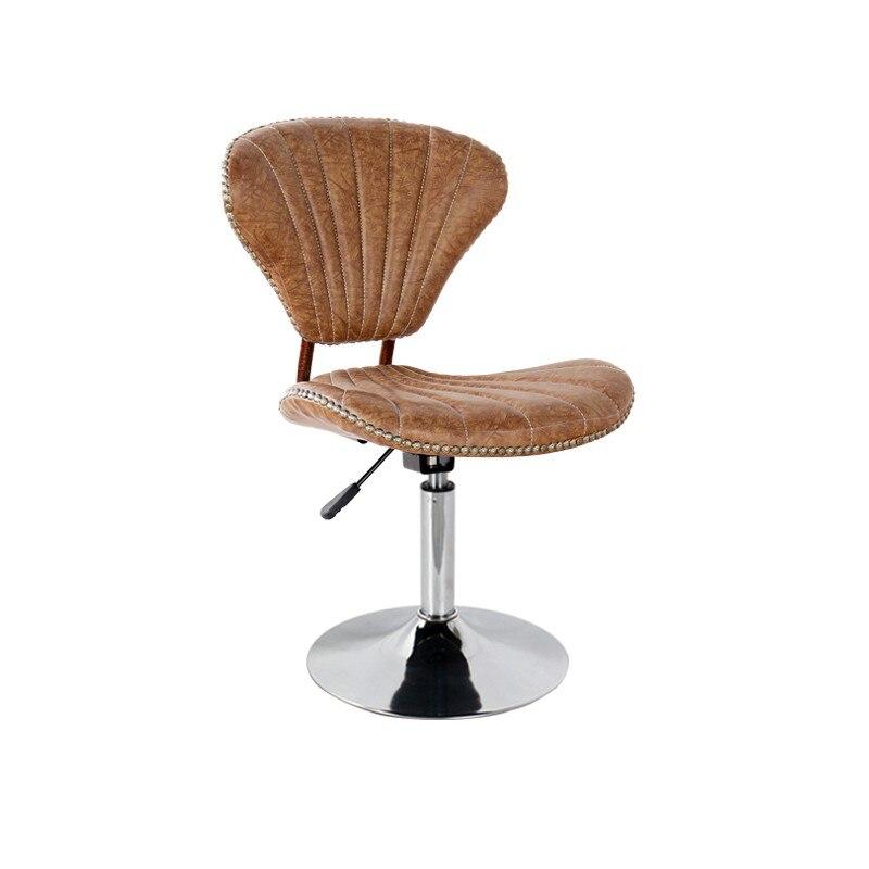 Bar Chair European Bar Chair Rotary Lifting Chair Backrest High-footed Stool Front Desk Cashier Chair Beauty Chair Bar Stool