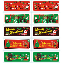100Pcs/lot Merry Chrismas Series Party Rectangle DIY Envelopes Greeting Cards Paper Sealing Labels Gifts box Stickers
