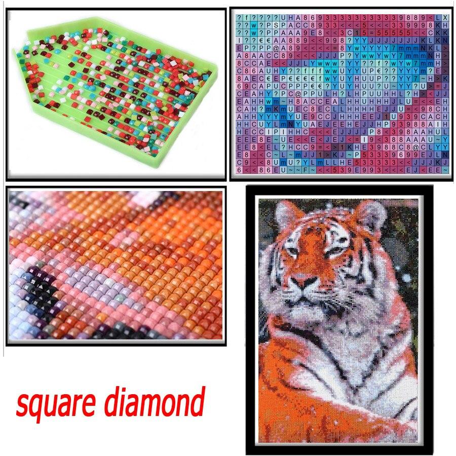 5D DIY Полная Алмазная мозаика с синим ртом для вышивки крестиком наборы для алмазной вышивки Картина со стразами Мозаика Декор икона