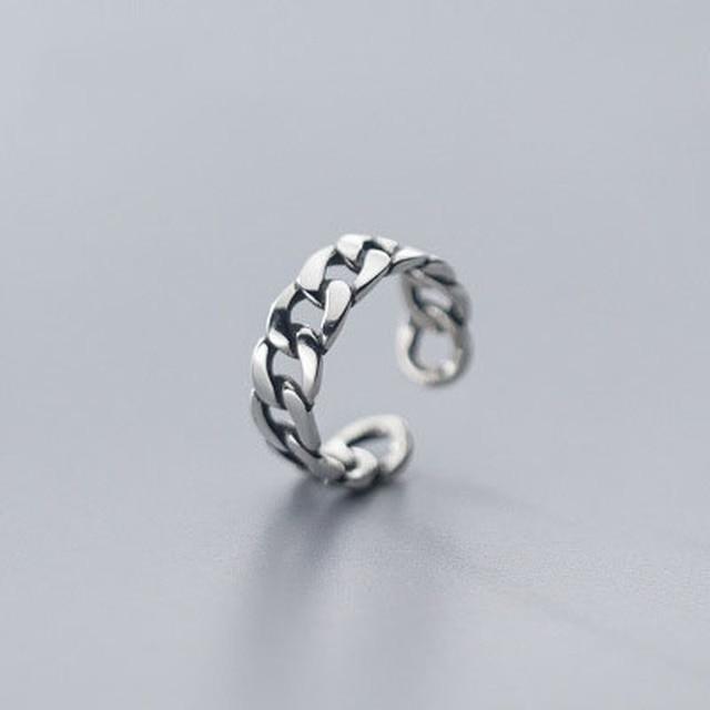 Фото leouerry стерлинговое серебро 925 пробы широкая цепочка кольцо