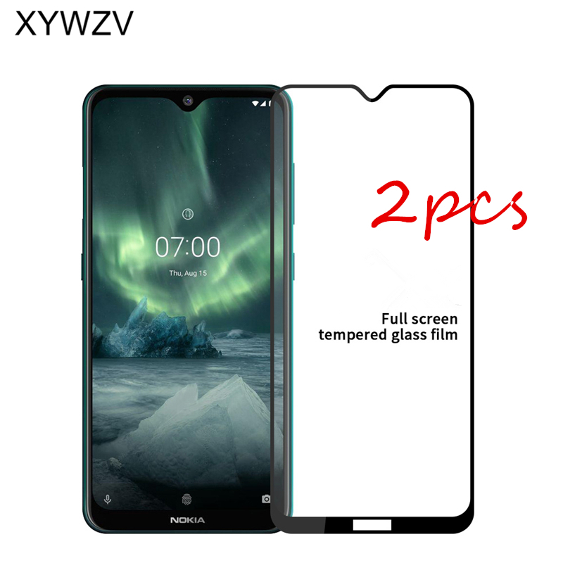 2Pcs For Nokia 6.2 Glass Tempered Glass For Nokia 6.2 Film Glue Full HD 9H Hard Protective Glass Screen Protector For Nokia 6.2