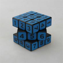 Prędkość anty stres magiczne kostki ręcznie nieskończonej nowe Polymorph Puzzle do układania na czas gładkie przezroczyste numer Cube edukacyjne zabawki kostki tanie tanio youe shone Z tworzywa sztucznego Mini Keep away from fire Adult toys 6 lat 3x3x3 Puzzle cube