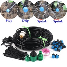5~40M Garden Watering System Kits Micro Irrigation System DIY Micro Drip Irrigation Kits With Blue Adjustable Drippers