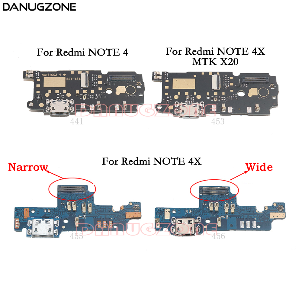 USB Charging Dock Port Socket Jack Plug Connector Charge Board Flex Cable For Xiaomi Redmi NOTE 4 / Redmi NOTE 4X X20