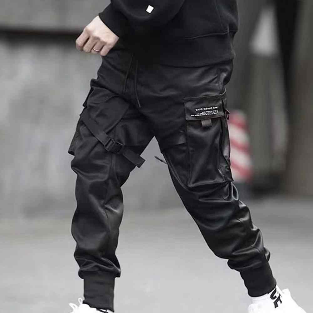 Hip Hop Chico Multi Bolsillo Elastico Diseno De Cintura Punk Pantalones Jogger Pantalones Harem Ropa De Calle Para Hombre Bailando Pantalon Negro Pantalones Informales Aliexpress
