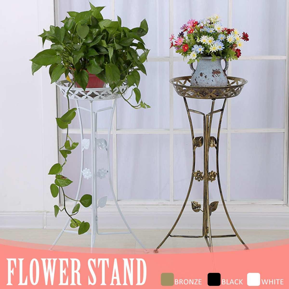 Metal Plant Stand Shelf Black/White/gold Elegant Display Garden Balcony Flower Pot Shelf Rack Holder Home Indoor Decor