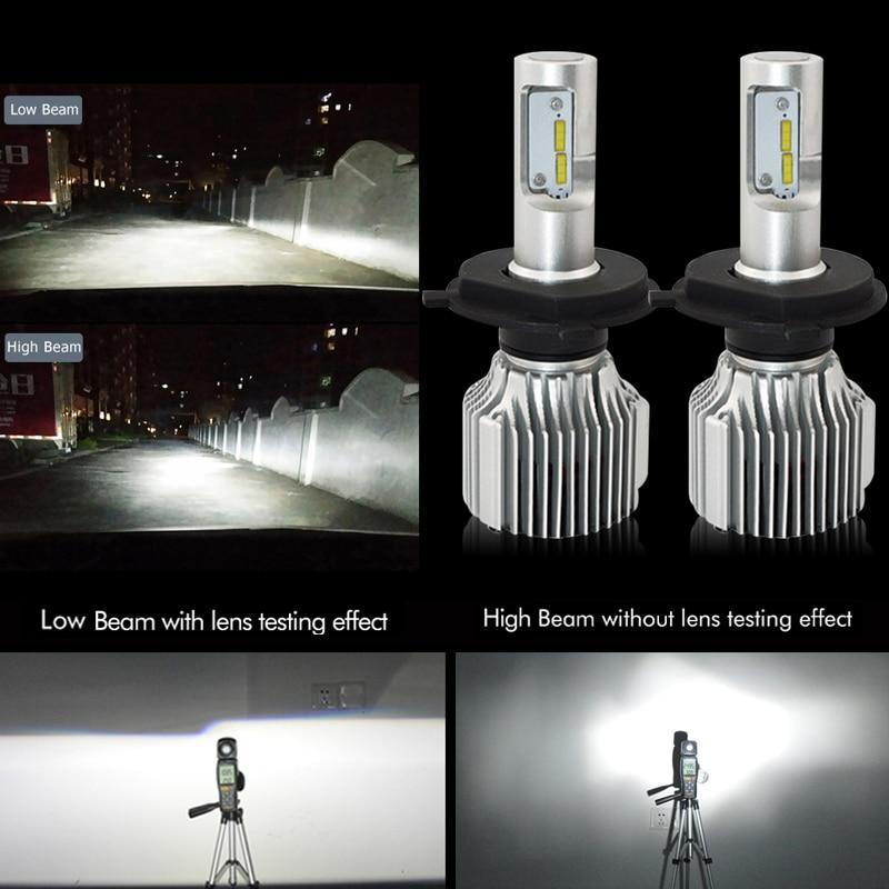 H7 Led Avtomobil fənərləri Lampa 12V H4 H8 H9 H11 9005 / HB3 9006 - Avtomobil işıqları - Fotoqrafiya 2