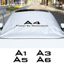 עבור אאודי A1 A2 A3 8P 8V A4 B8 B6 A5 A6 C6 C5 C7 A7 A8 אוטומטי אביזרי רכב שמשה קדמית שמשיה כיסוי צל שמש אנטי UV מגן