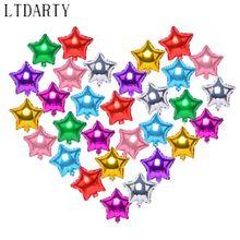 50 pçs/lote 5 Polegada estrela coração forma balões de alumínio infláveis balões de alumínio festa de aniversário do casamento decoração
