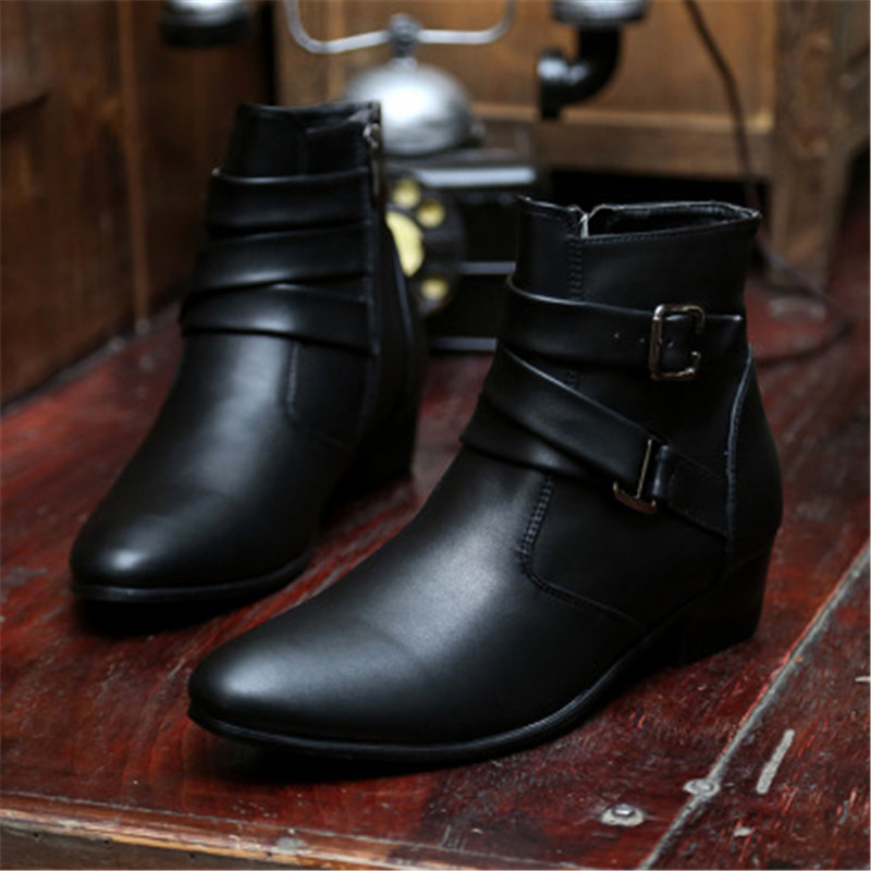 2019 New Fashion Men Ankle Boots Winter Boots Warm  Waterproof Wear-resisting Casual Boot Shoes Black White Brown Size 39-47
