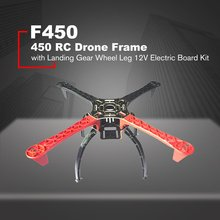 F450 450 Drone Arm Frame Wheelbase with Landing Gear Wheel Leg 12V Electric Board Kit for RC 4-Axis RC Multicopter Quadcopter 1pcs digital servoless retract with metal block quad retractable landing gear pz 15091m for rc airpalne