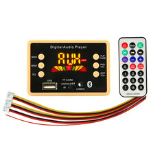 Bluetooth 5.0 MP3 Decoder Board Module Met Display 12V Auto Usb MP3 Speler Wma Wav Tf Card Slot/usb/Fm Met Afstandsbediening(China)