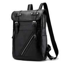 Best Professional Men Business Backpack Travel Waterproof Slim Laptop Backpack School Bag Office Men Backpack Bag Leather(China)