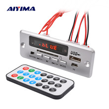 AIYIMA Bluetooth MP3 декодер доска аудио модуль 5 в Музыка MP3 плеер декодирование доска Цифровой светодиодный дисплей AUX USB TF SD карта FM