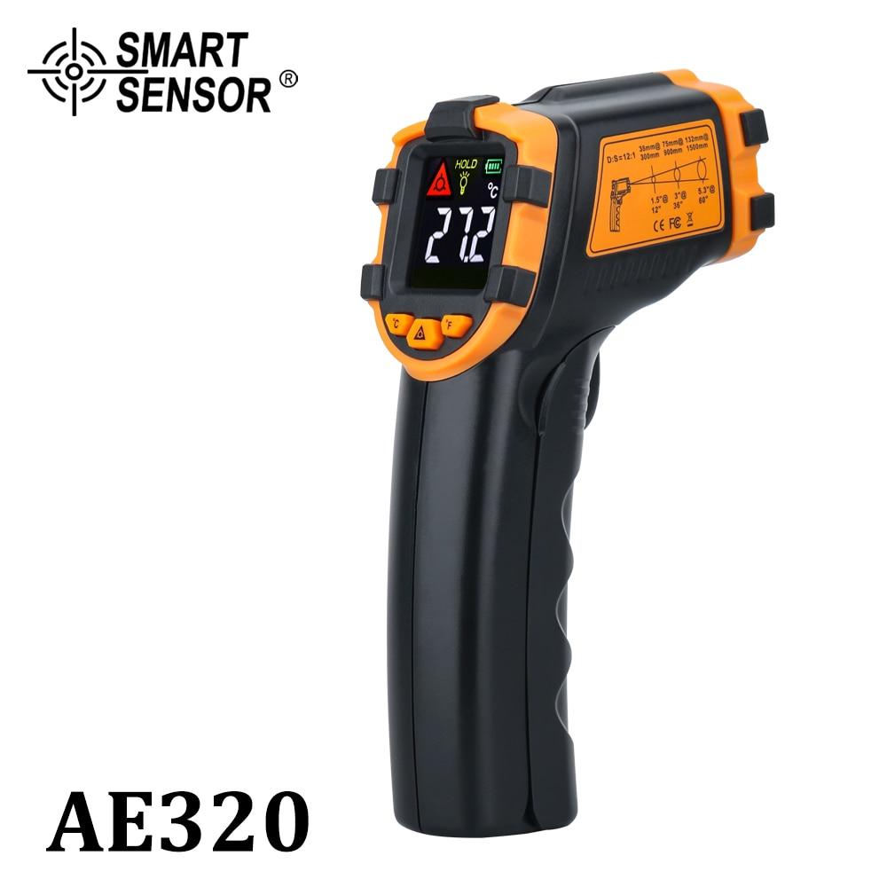 Цифровой инфракрасный термометр, Бесконтактный лазерный измеритель температуры с цветным ЖК дисплеем