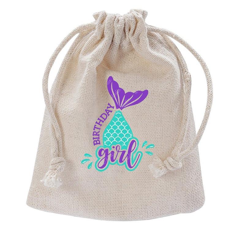 Mermaid Ocean under the sea theme Birthday baby bridal shower Gender Reveal wedding Bachelorette party Decoration favor gift bag