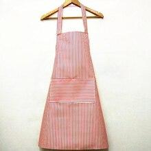 Корейский висячий шейный халат для дома, кухни, простой модный фартук в полоску для приготовления пищи, фартук с принтом на талии, фартук с изображением медведя, инструменты для дома
