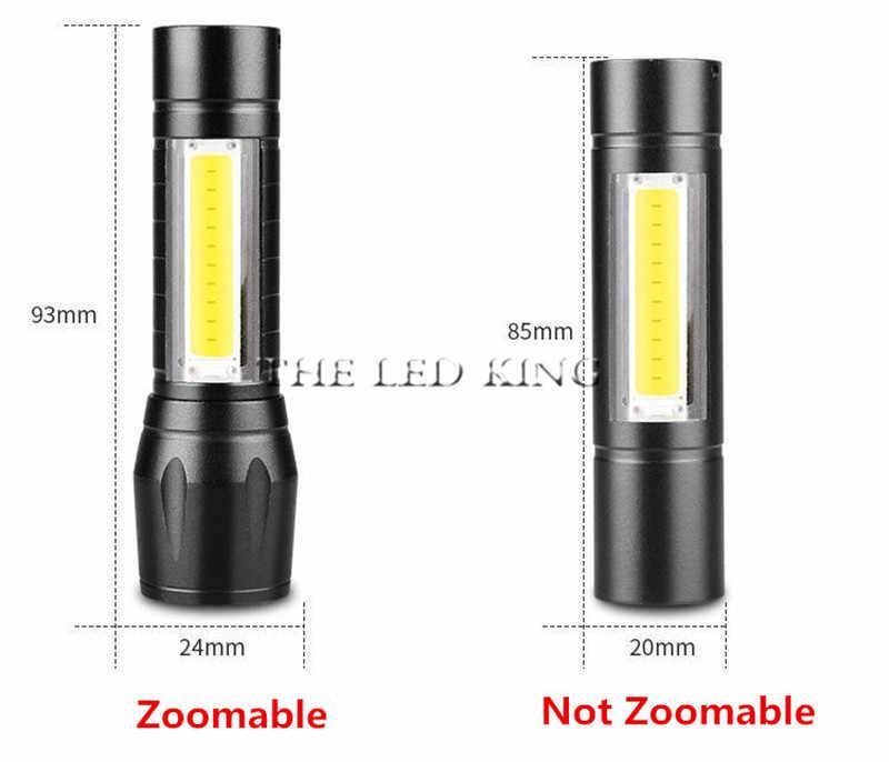Imperméable 4000LM USB lumière Instantanée Rechargeable XML-T6 cob lampe de poche LED Zoomable 3 modes torche pour 14500 avec câble USB Camping