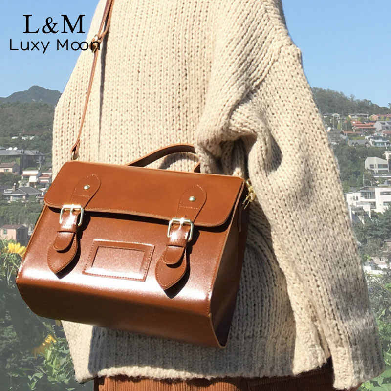 Mode Pu Leer Vrouwen Messenger Bag Handtas Vintage Vrouwelijke Schoudertassen Retro Meisje Student Satchel Crossbody Bag Sac XA597H