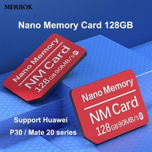 Buy 128GB NM Card Nano Memory Card 90MB/S For Huawei Mate20/P30 Mobile Phone Computer Dual-use USB3.0 High Speed TF NM-Card Reader directly from merchant!
